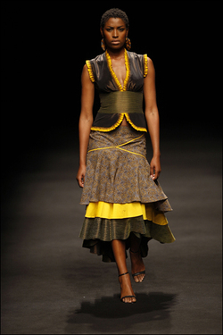 really like where African fashion is right now. It is a fusion of so
